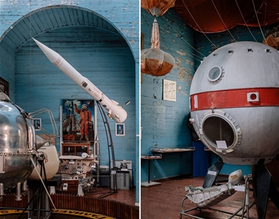 a space museum within a church