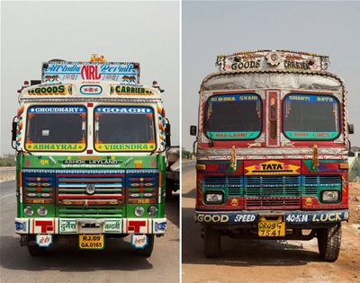 the decorated trucks of india