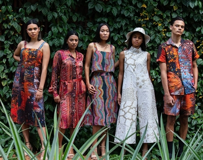 see indigenous fashion and textiles on the telly