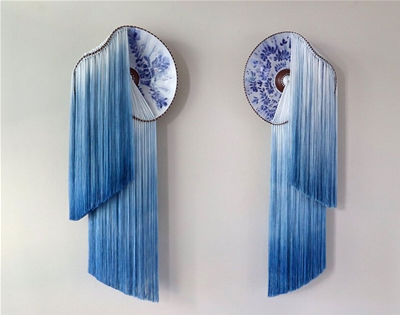 nicole mclaughlin combines fibre and ceramics to celebrate her roots