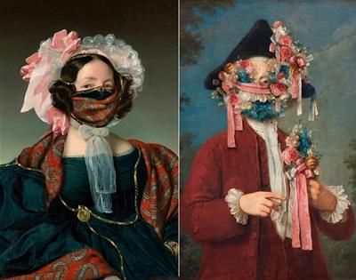 volker hermes' masked portraits
