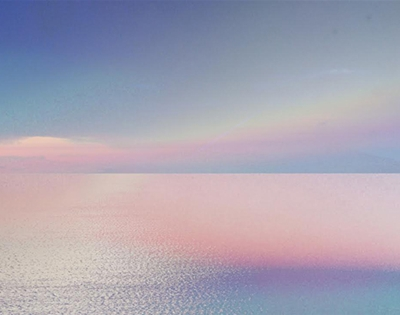 pink and blue hues from the world's largest salt flat