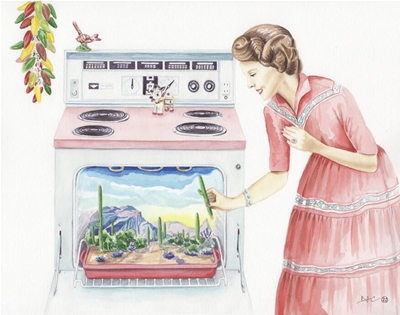 douglas clarke's retro watercolours