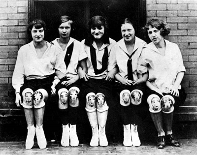 take a peek at the knee-painting trend of the 1920s