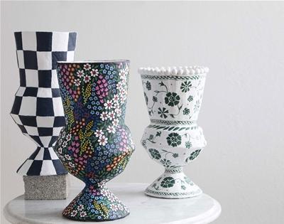 make your own papier mâché vase