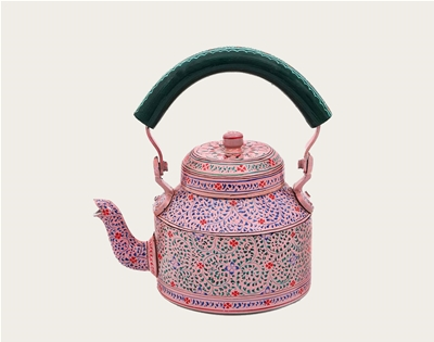 hand-painted teapots from rajasthan