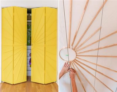 diy sunburst wardrobe doors