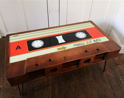 the cassette coffee table