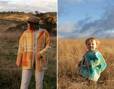 blanket coats for grown-ups and wee ones
