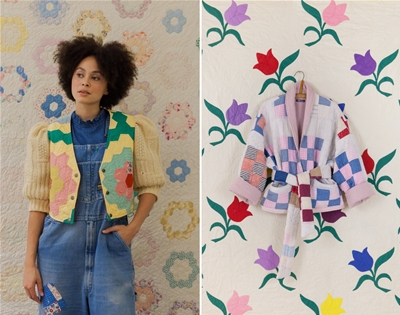 honeybea turns salvaged textiles into new duds