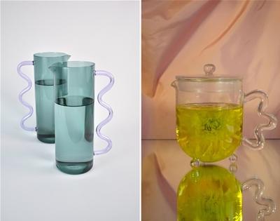 wavy glassware by sophie lou jacobsen