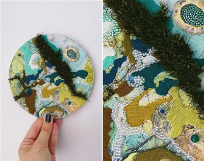 salt stitches' embroidery is inspired by natural textures
