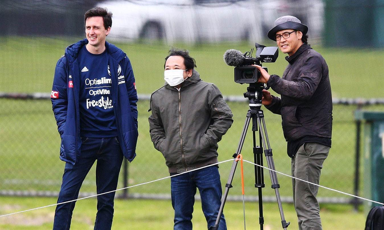 Pics: Japanese film crew attend Melbourne Victory training