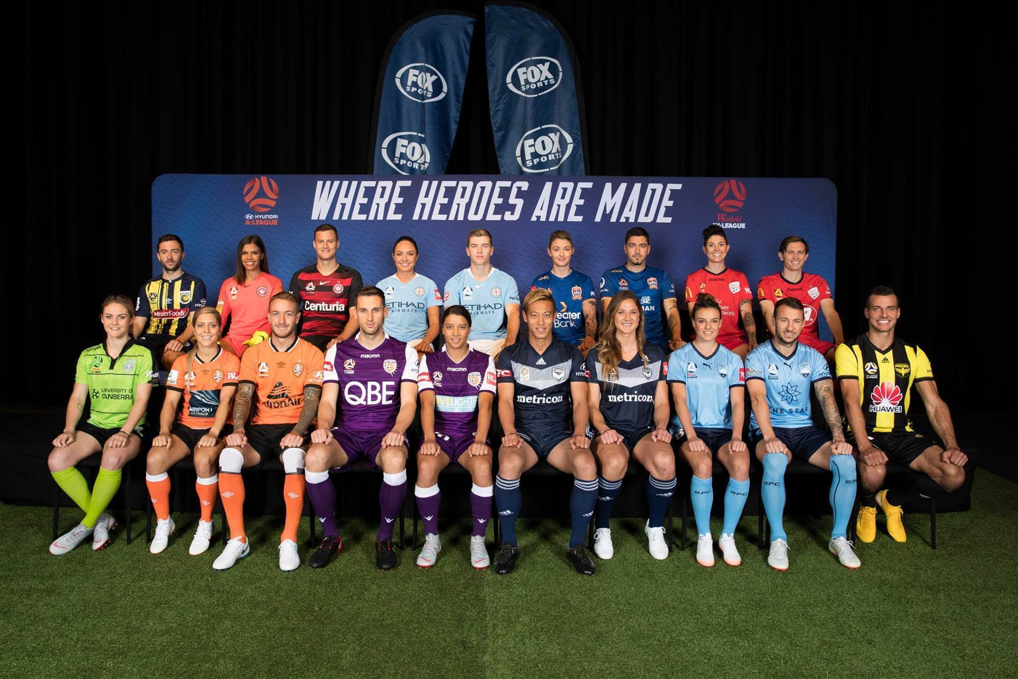 Show us your colours! A-League & W-league 2018/19 season launch