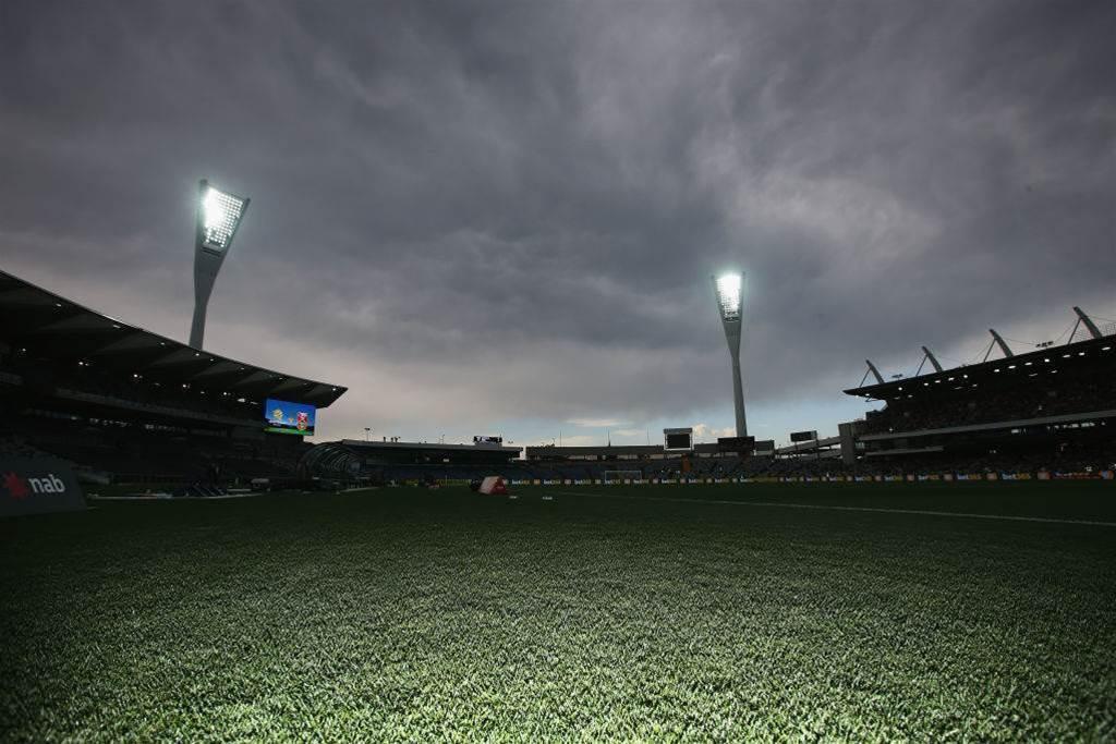 Gallery: Lightning halts Matildas game