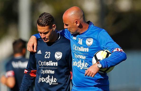 Muscat shows tender side at Victory training