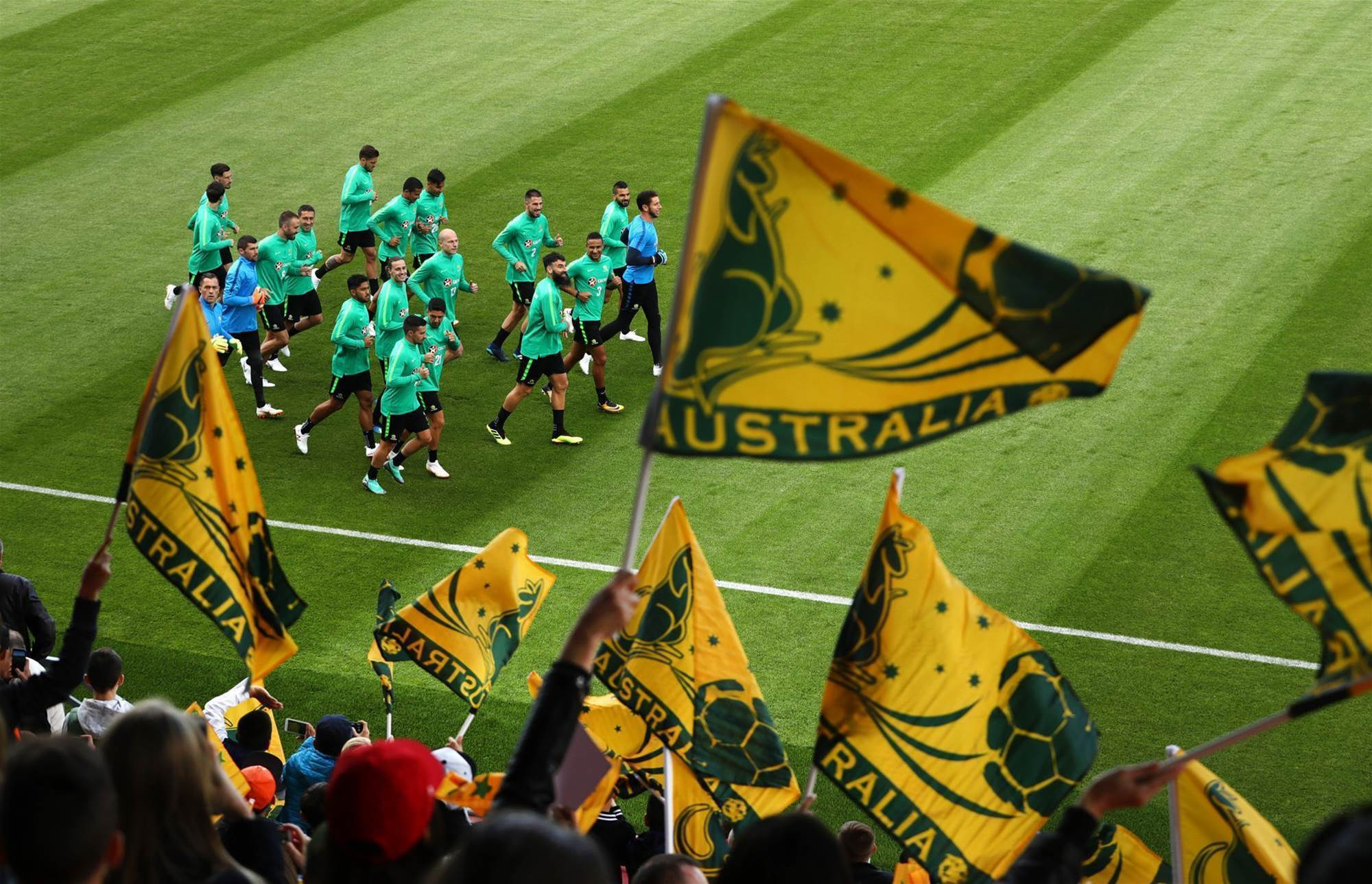 Pic special: Socceroos train in front of Kazan fans