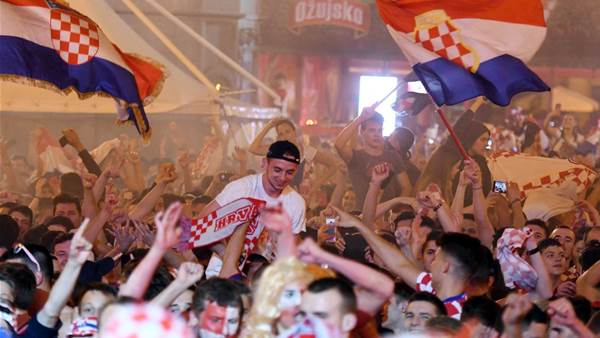 Pic special: Wild scenes erupt after Croatia win