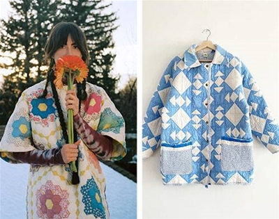 psychic outlaw turns quilts into jackets
