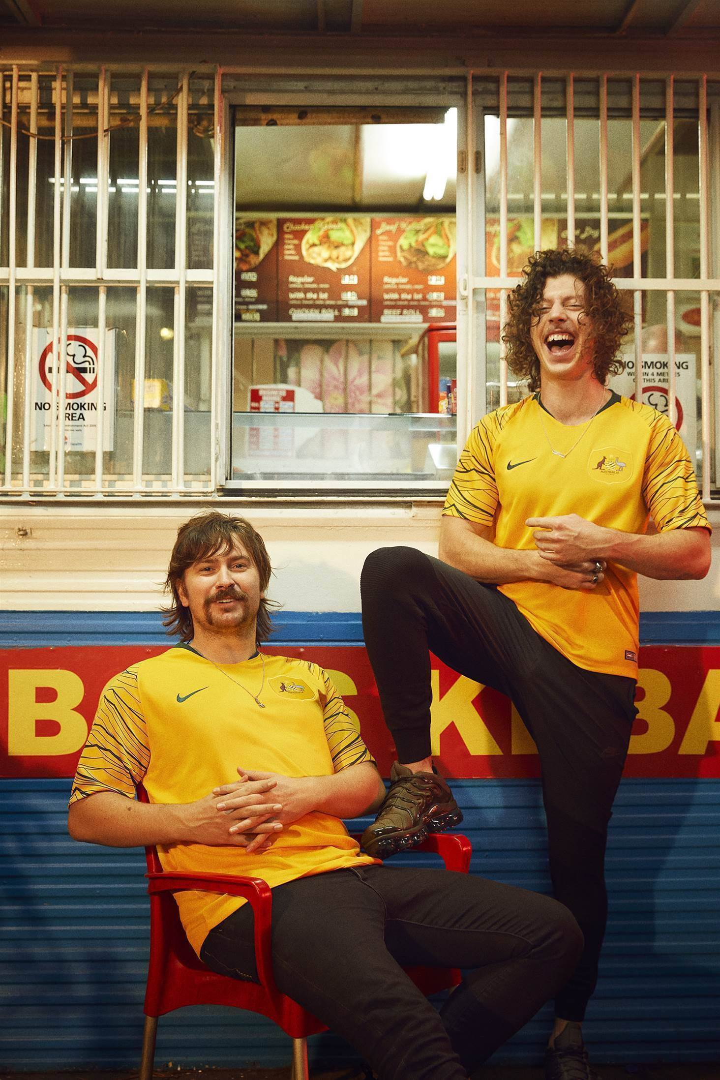 All the action from the controversial new Socceroos kit launch