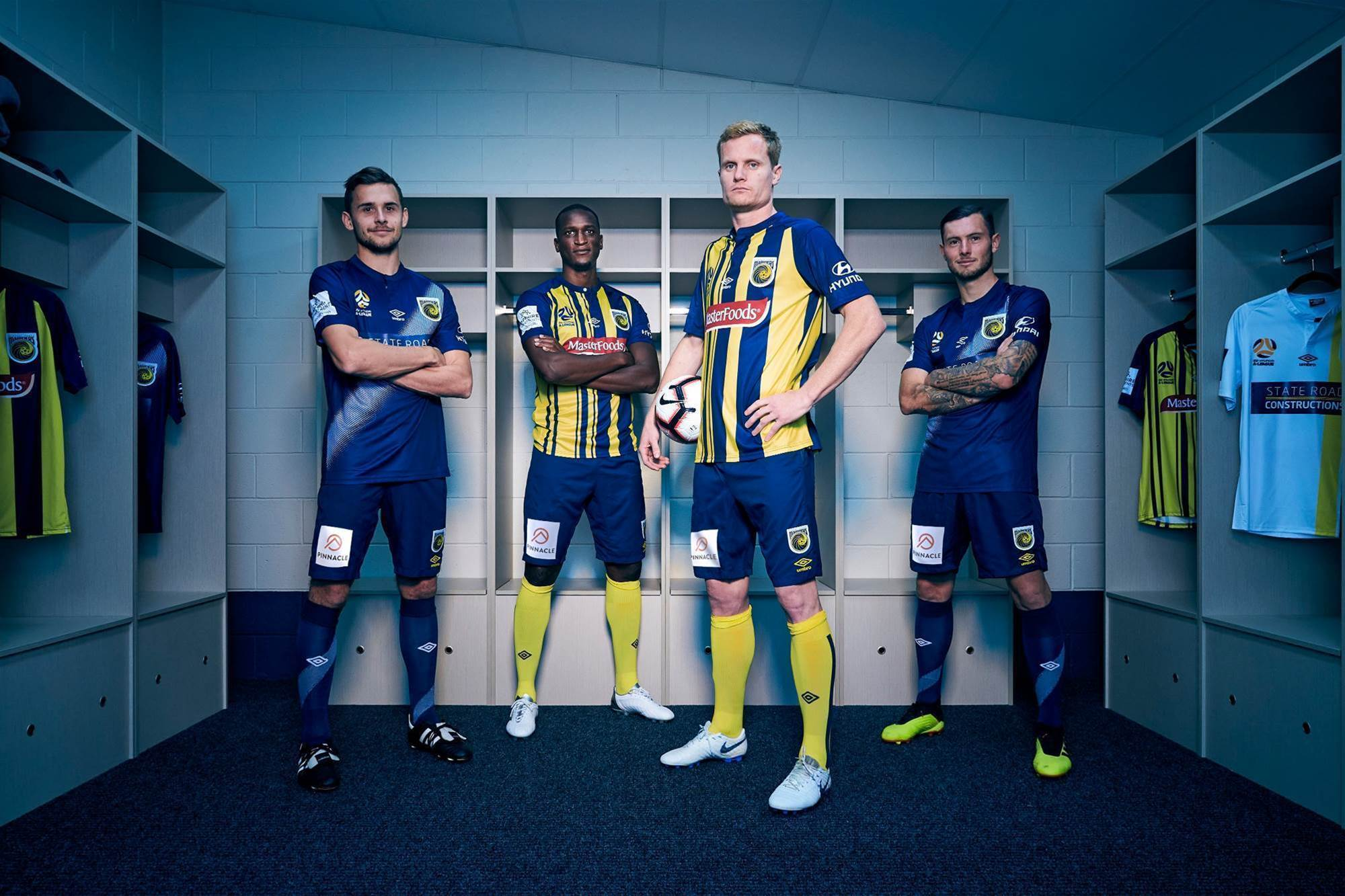 Central Coast Mariners unveil new kits ahead of Bolt trial game