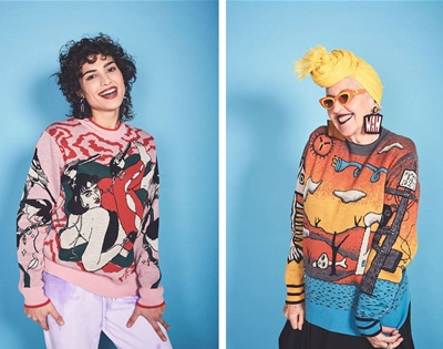 wah-wah goes all out with new art-punk jumpers