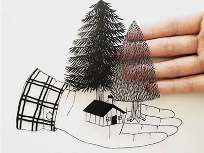 kanako abe's poetic papercuts