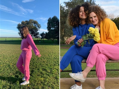 locally made tracksuits from poppie the label
