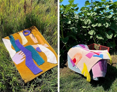 a rug collection designed by kids