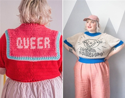 lydia morrow's knitted bibs