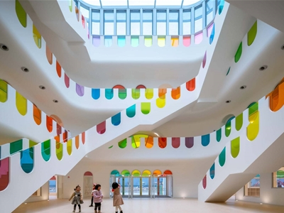 a rainbow kindergarten in china