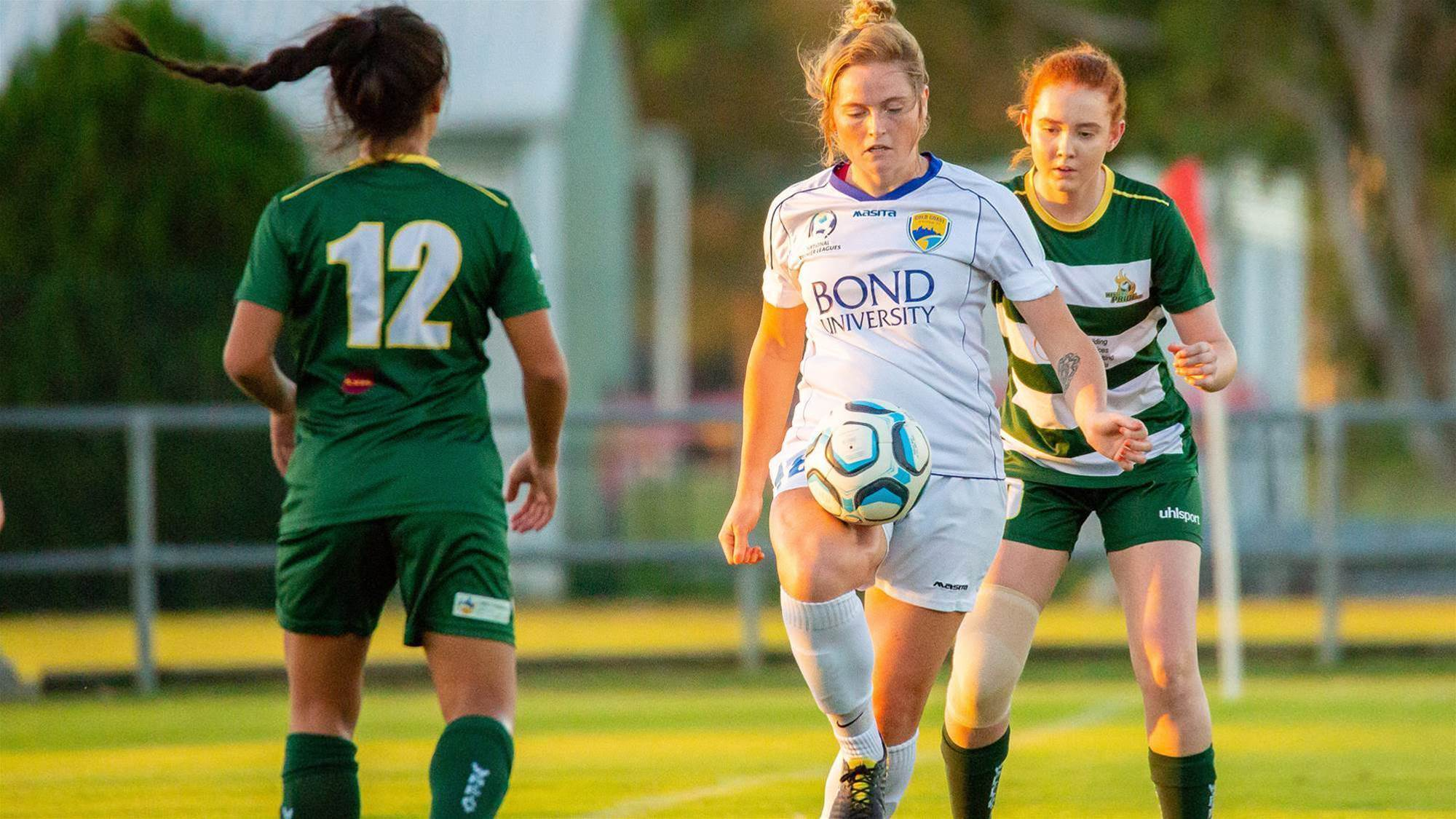 NPLW Golden Boot signs with Canberra