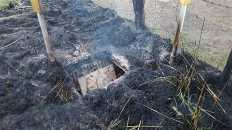 Telstra pit fire not caused by lightning, RFS finds