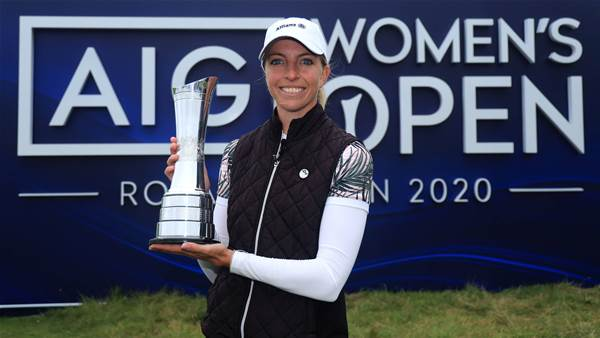 Peerless Popov wins AIG Women's Open