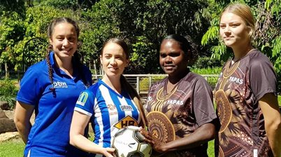 Indigenous team kicks off Australian football restart