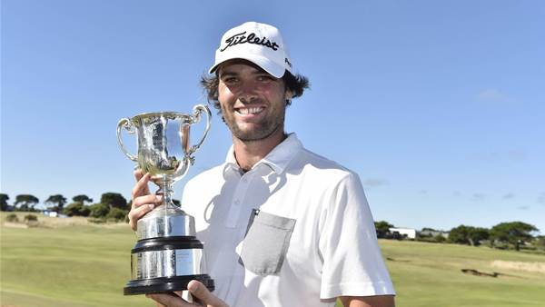 Hawkes swoops to life-changing Vic Open win