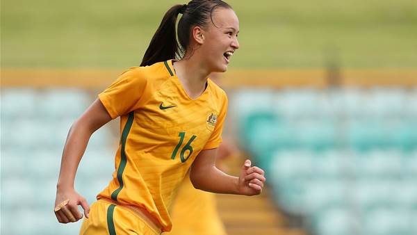 "Amy Sayer's text: ""OMG you're in the Matildas!"""