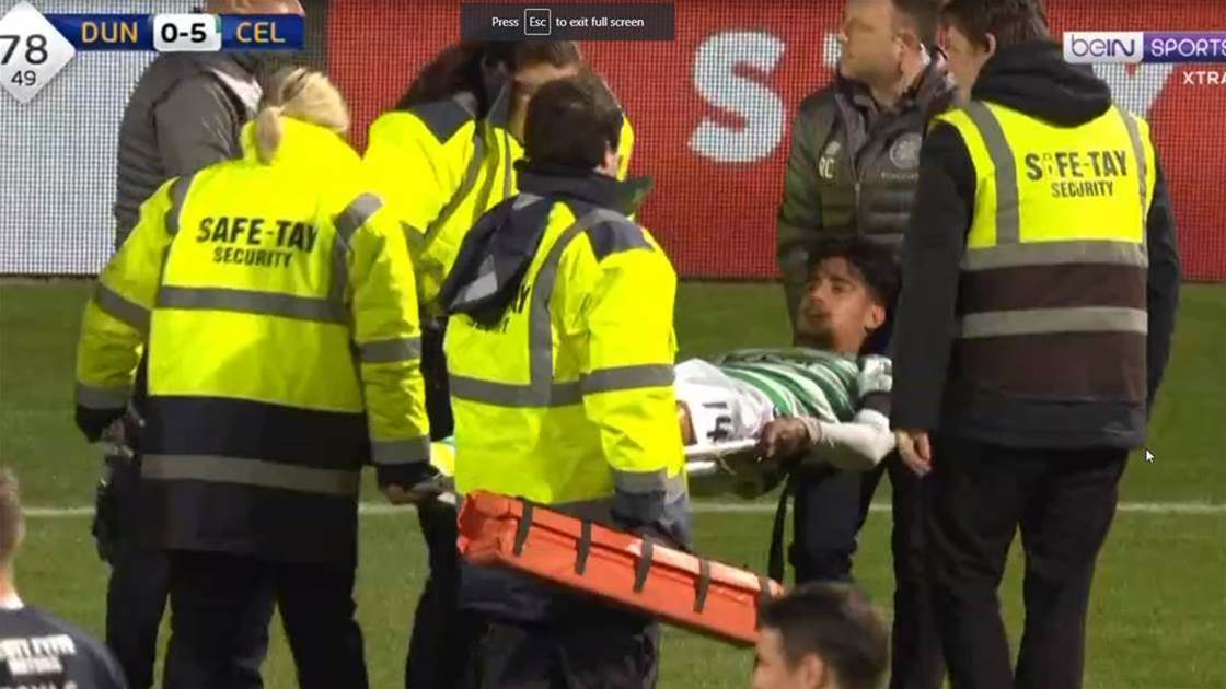 Celtic confirm Arzani's done his ACL