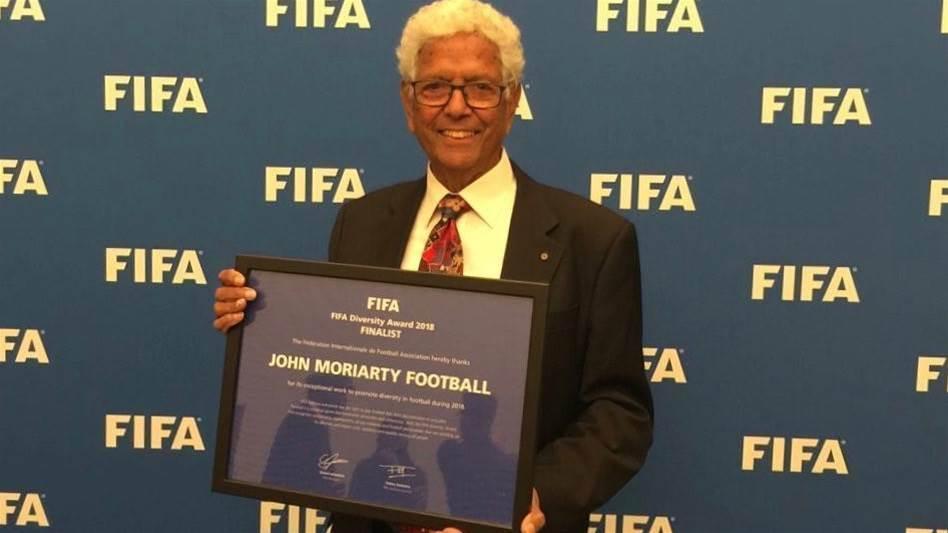 Top three FIFA honour for Socceroo John Moriarty