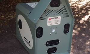 Conservationists use autonomous baiting device on feral cats