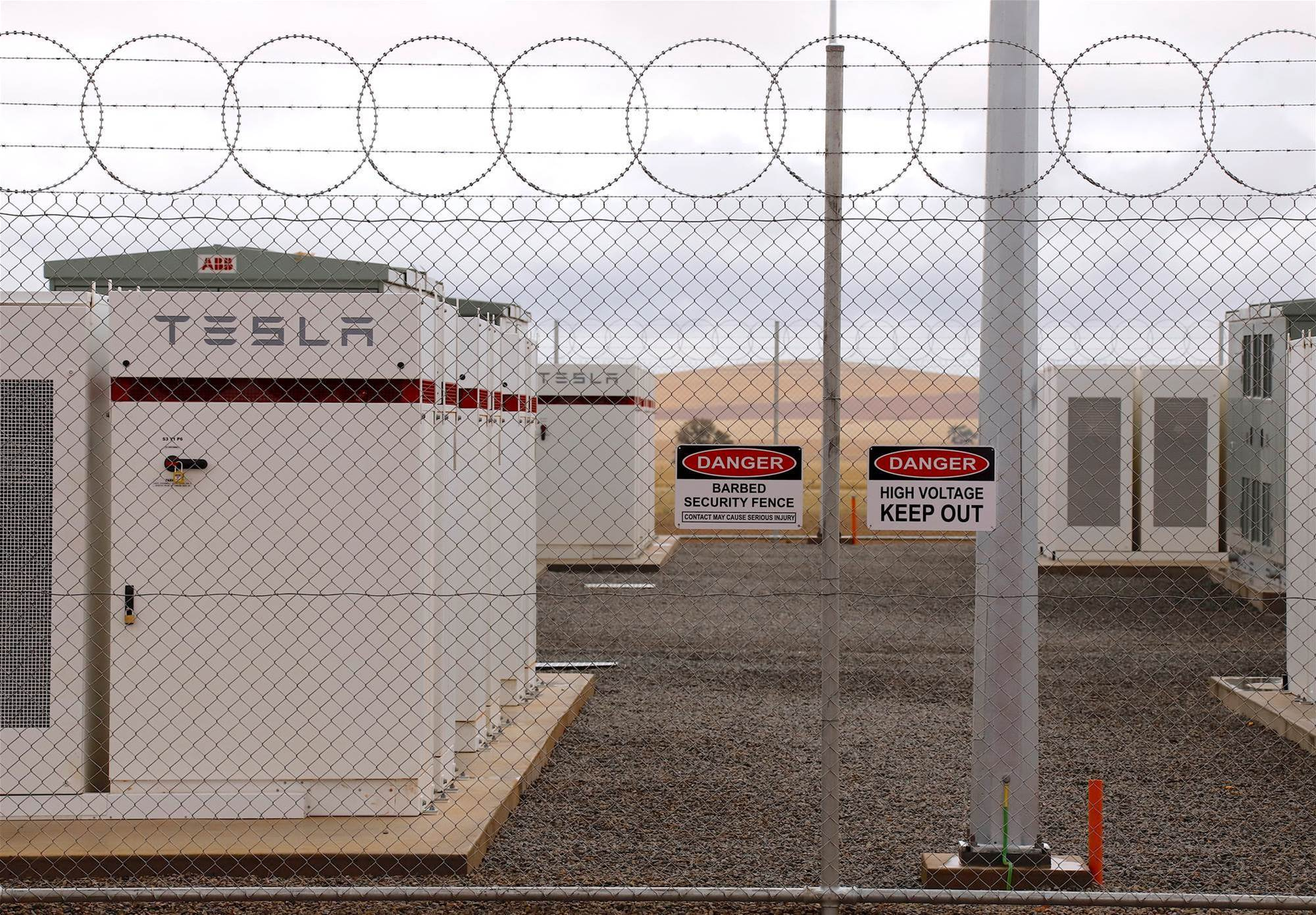 Tesla switches on giant battery in South Australia