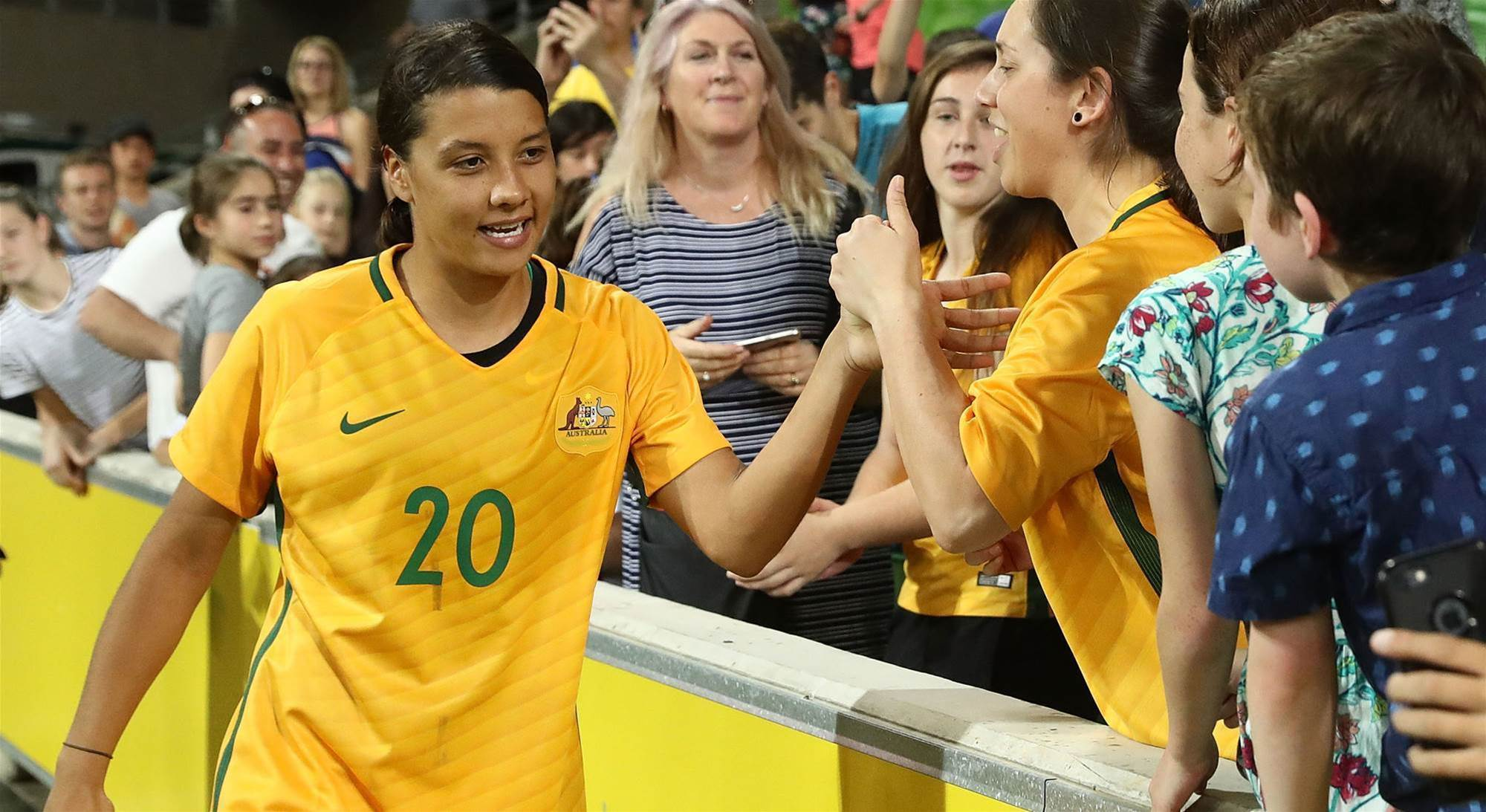 Kerr and Matildas win popular choice awards