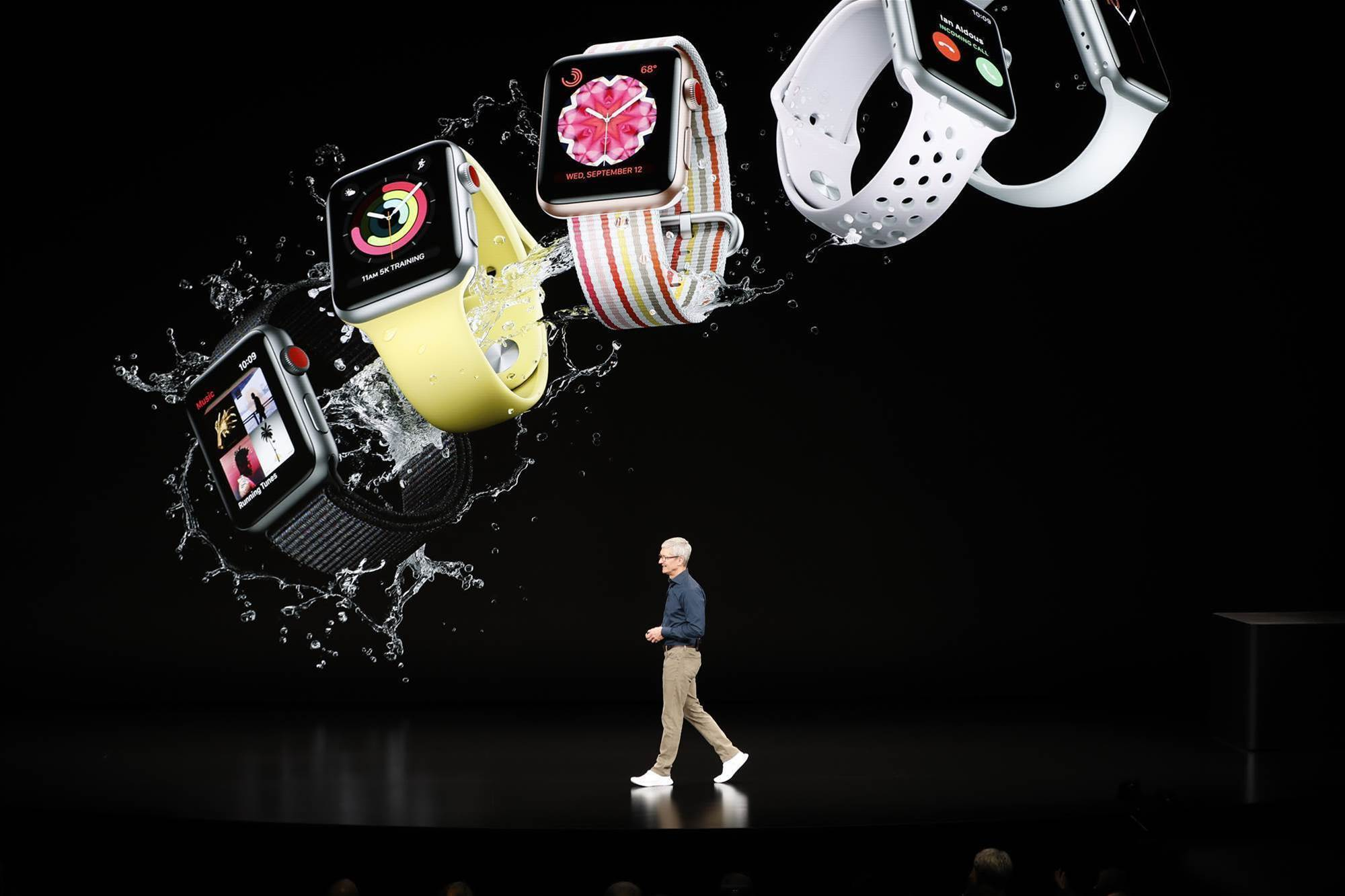 Apple debuts biggest iPhone yet, health-oriented watch