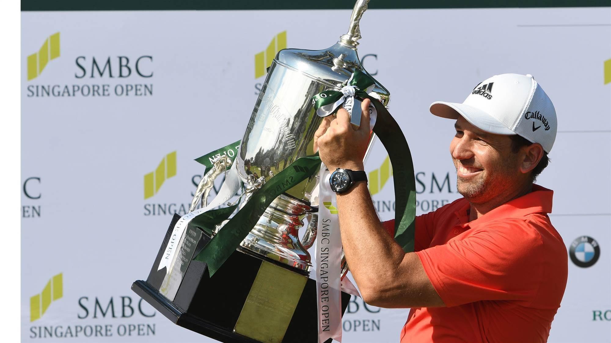 Garcia wins Singapore Open by five shots