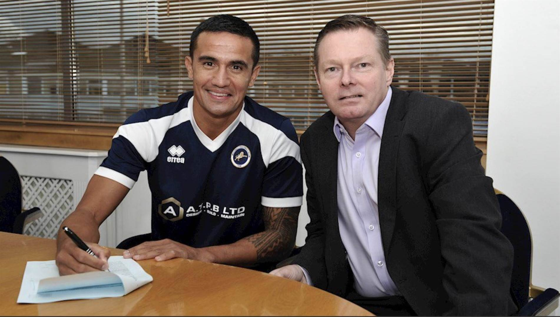 Official! Tim Cahill back where he started...