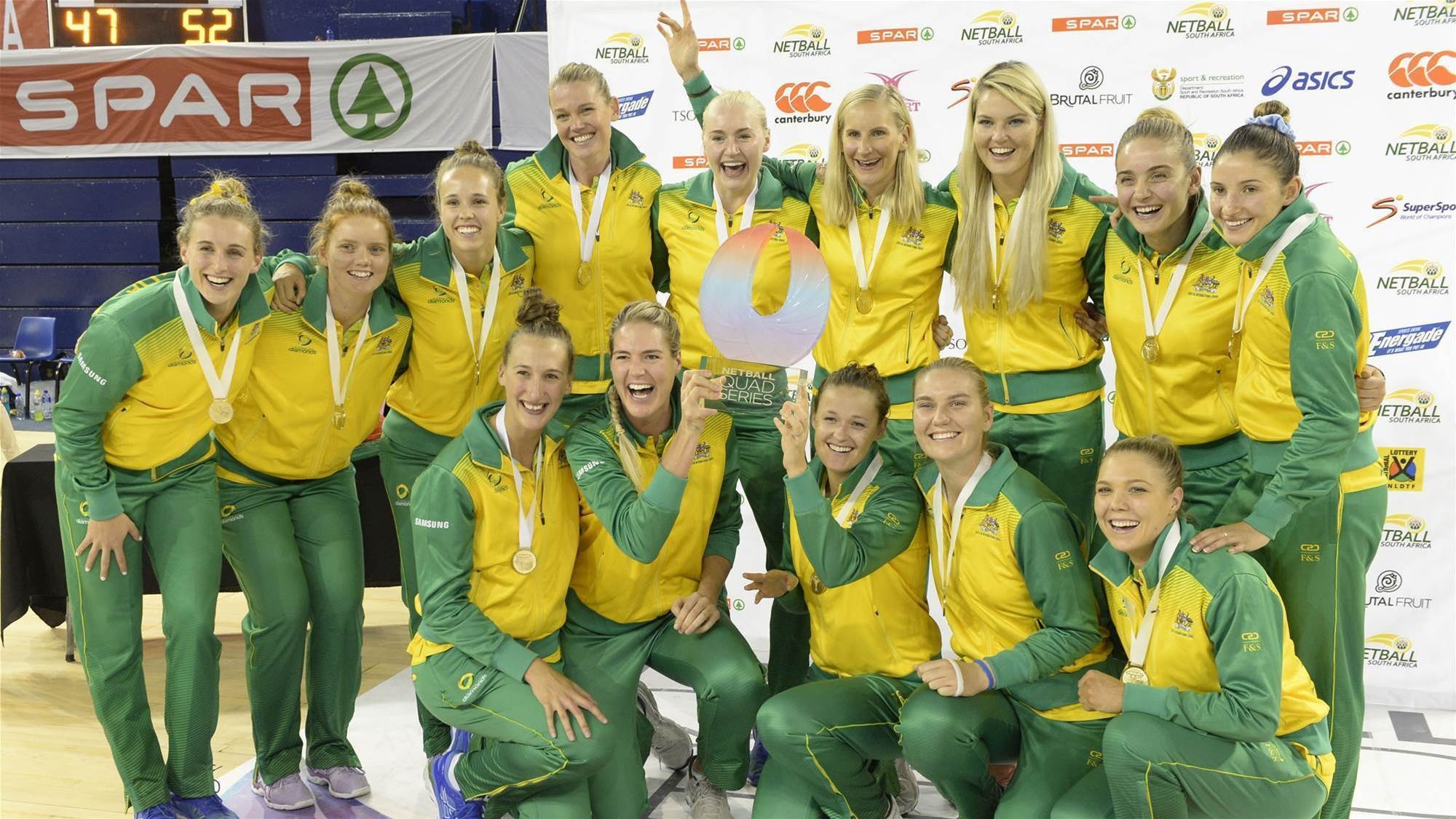 Diamonds claim Quad Series trophy