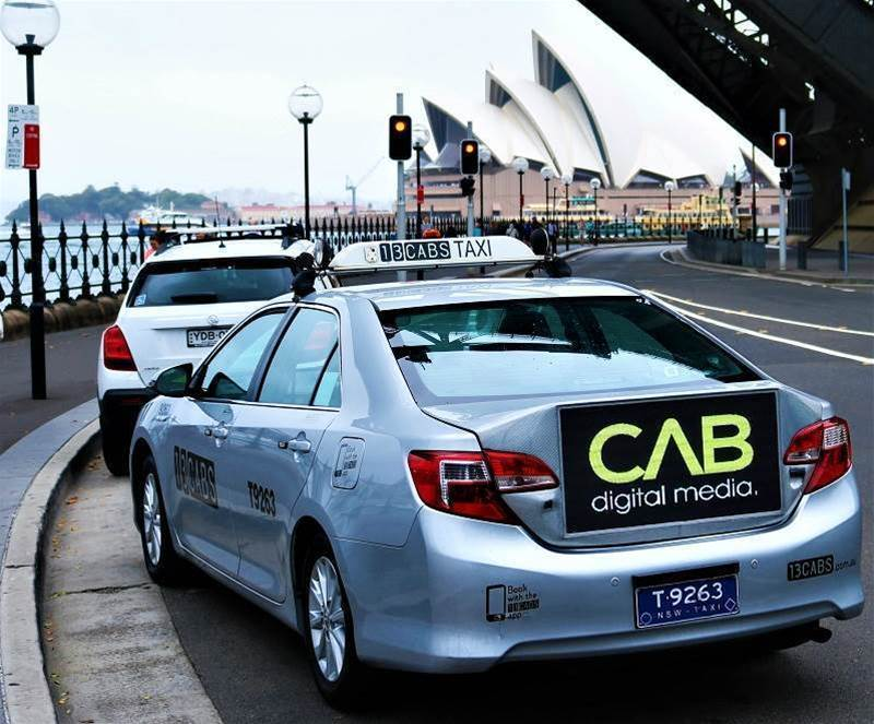 Digital displays come to Aussie taxis