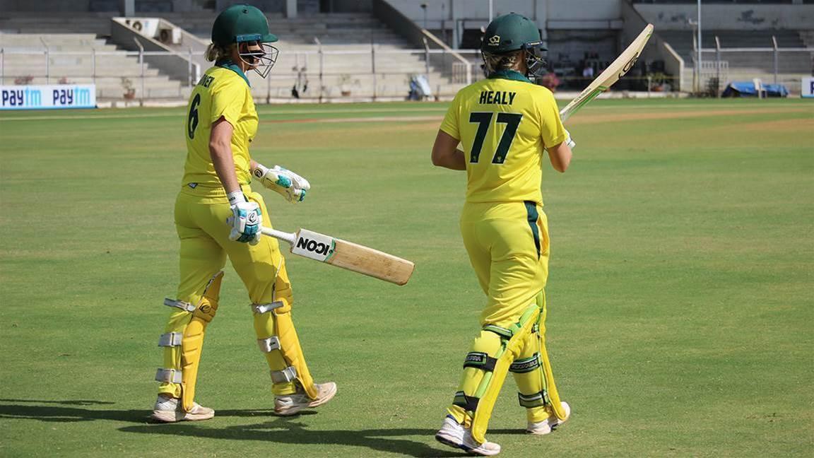 Schutt's unusual hat-trick guides Australia to victory