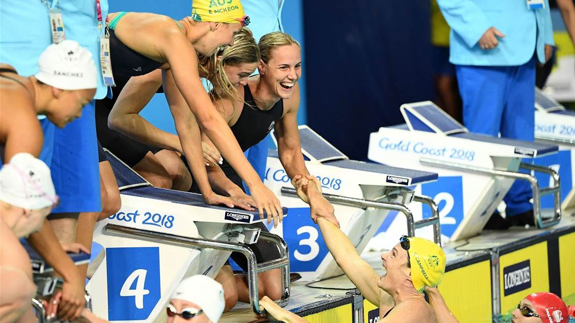 Swimmers shine in the pool on day one