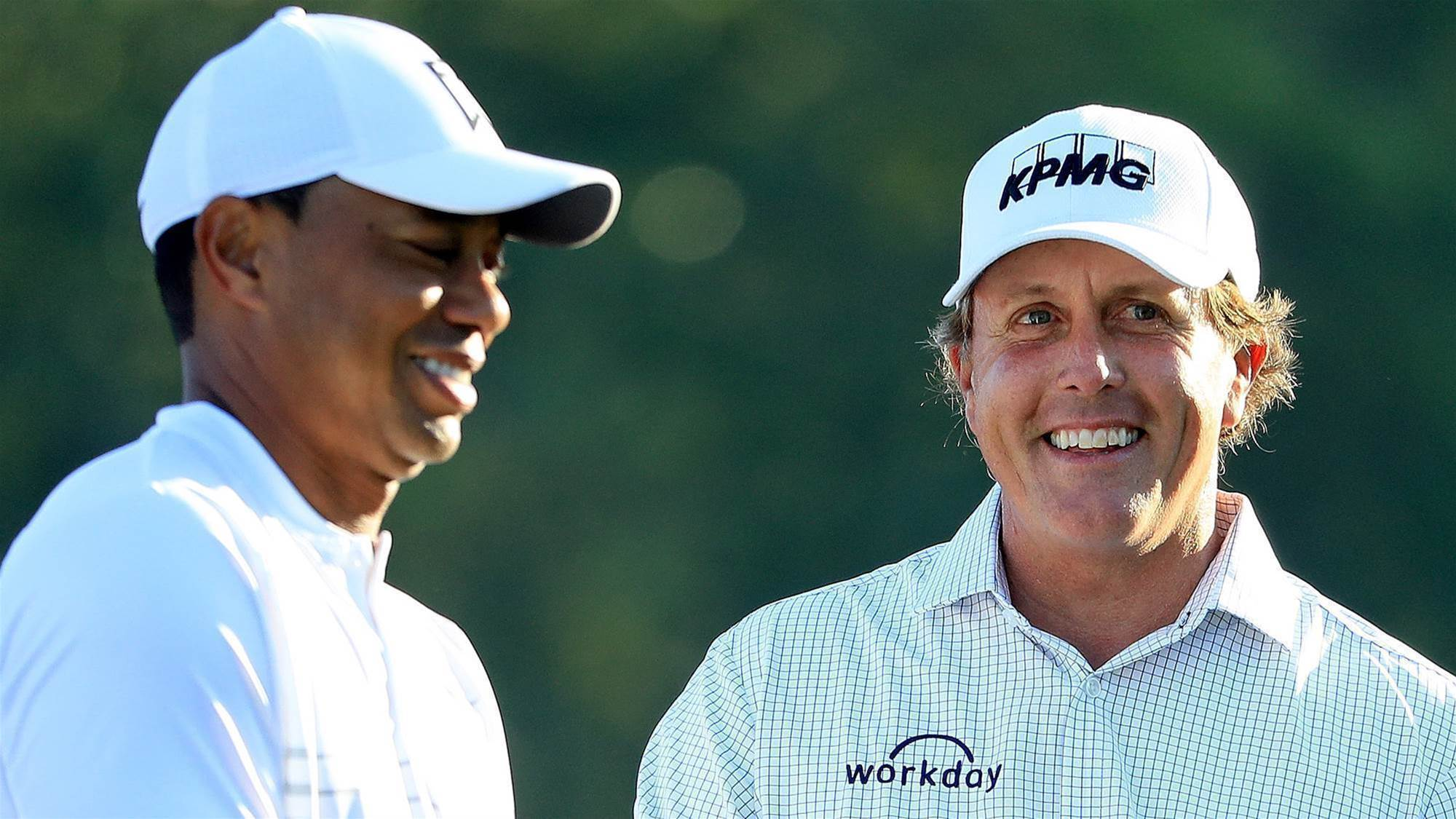 Mickelson sledges Woods before the Players